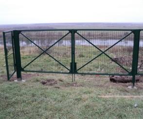 Окрашенные ворота